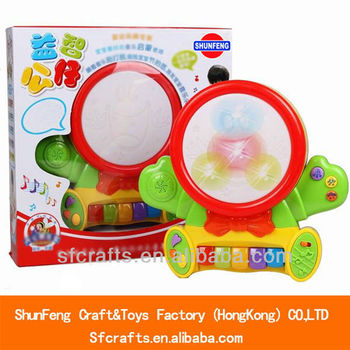 Musical instrument plastic electronic plastic drum toy