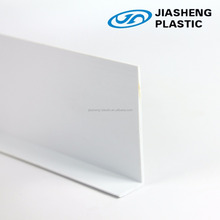 L shape rigid pvc profile/extruded hard plastic profiles