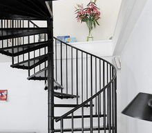 Outdoor spiral stairs Used outdoor iron treads spiral stairs Used outdoor iron galvanized spiral stairs TS-392