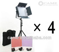 Free Bag 4 x 900LED Camera Video Panel Light Film TV Lighting with Cable Dimmer