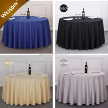 Guangzhou custom polyester fabric banquet table linens round table clothes wedding