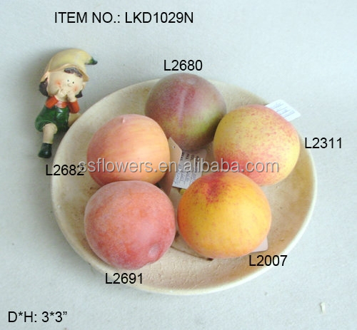New Artificial Faux peach fake fruits realistic honey peach for house/wedding party decoration