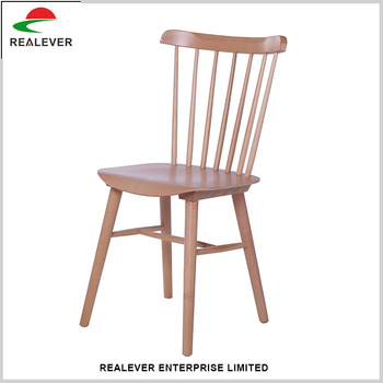 New style high back simple dining antique wood chair