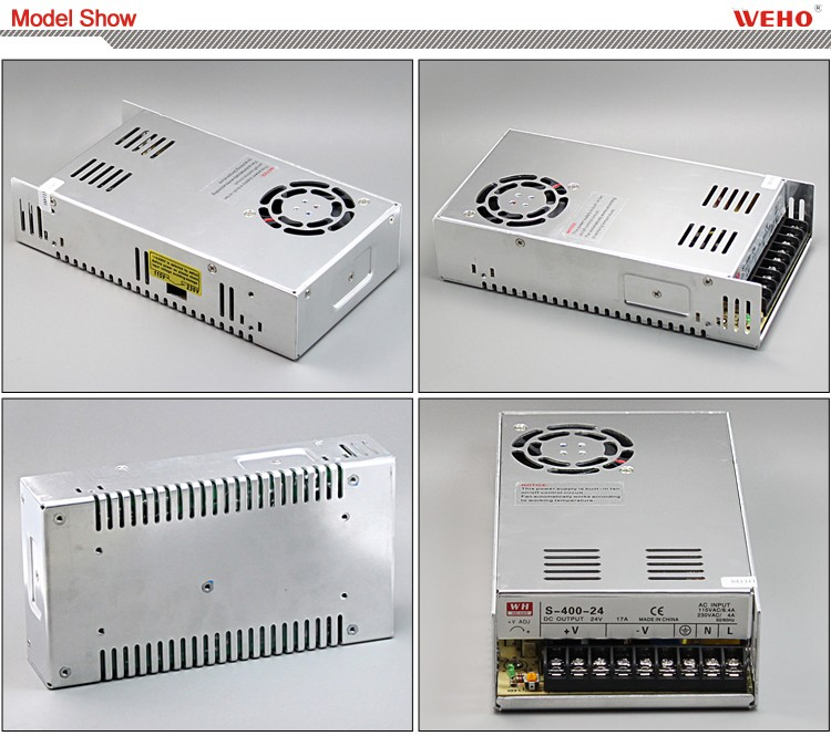 220VAC Single output dc 12v cctv power supply 400W 12v 33a switching power supply