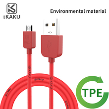 high quality cloroful pvc round 1.5m colored micro usb charging cable for android