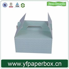 color Printed corrugated boxes/custom cardboard box packaging for cake