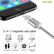 2017 new product Nylon Braided Aluminum Magnetic Micro USB Cable For Smart Phone