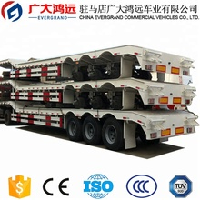 Transport heavy machinery three axle low flatbed semi trailer for sale