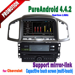 8 inch captiva with android 4.4.2 touch screen bluetooth 3g/wifi mirror-link +hotspot+radio/gps/dvd/mp3/TV/IPOD 2011 2012