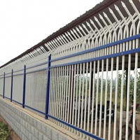 Plastic spraying zinc steel fence Montvale Style pool enclosure and guardrail Wrought iron fence