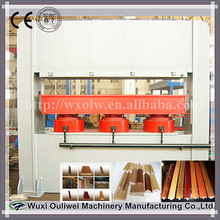 High quality wood moulding/door frame line heating pressing type machinery