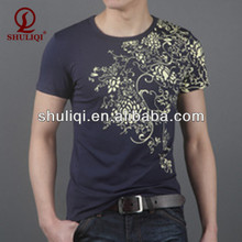 Sex gold foil stamping t shirts for men