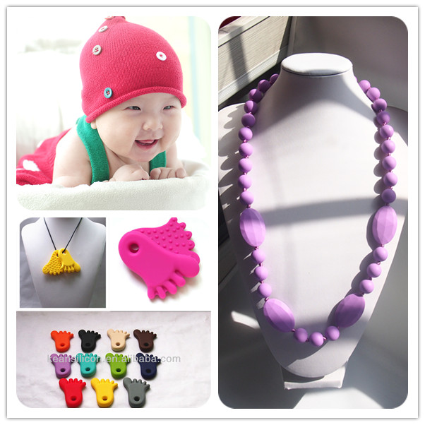 souvenir gift mom fashion silicone baby teething necklace wholesale