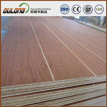 4'x8' Ply wood with red oak wood skin/High quality poplar fancy PLY WOOD
