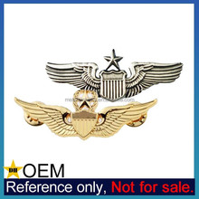 Custom Army Aviator Military Air Force Pilot Metal Wing Badge