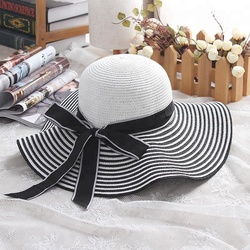 2018 Wholesale Floppy Big Wide Brim Women Beach Cap Summer Sun Straw Hat