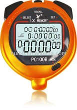 Latest 3 Lines Display 100 Laps Memory Stopwatch