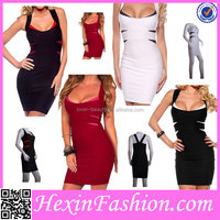 High Quality Elegant Black Sexy Night Club Dress Wholesale