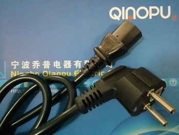 Europe 3pin power cord with connect plug