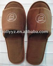 2014 comfortable Cotton velour hotel new design fashion slippers