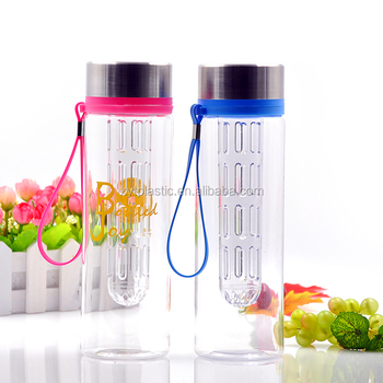 fruit bottle in crown cap, water bottle for fruit flavor, water bottle with different caps