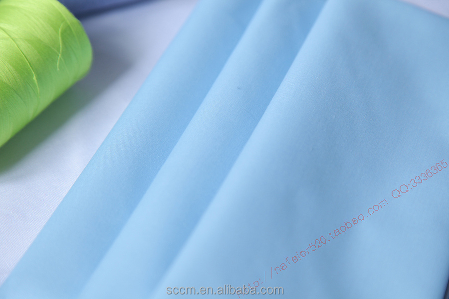cotton fabric for nurse uniform khaki anti-chlorine bleaching