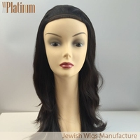 Rabbi Approved Dark Rooted Human Hair Band Falls
