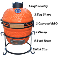 Outdoor Picnic Ceramic Charcoal Chicken BBQ Grill
