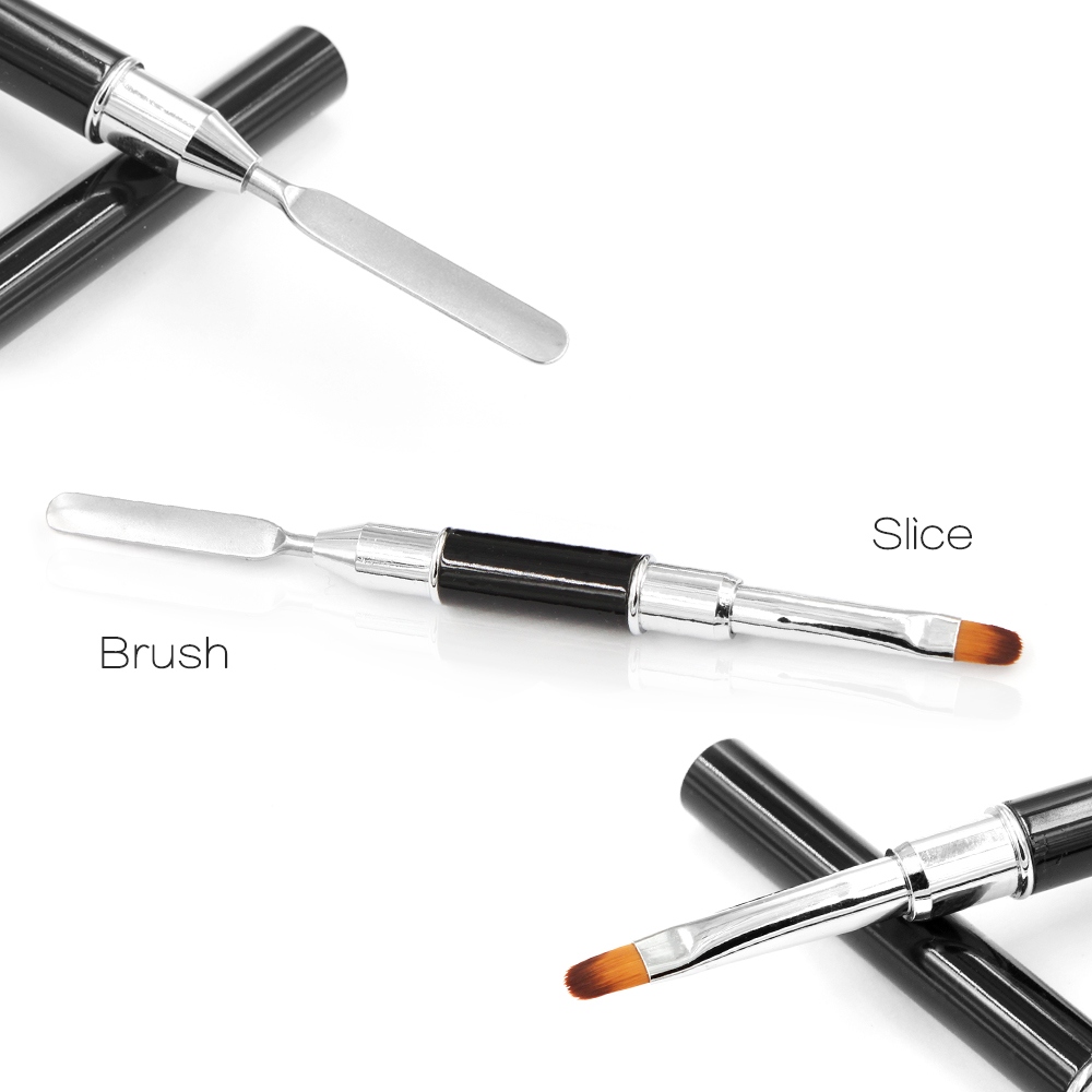 Professional Nail Gel Brush With Spatula Poly Gel Brush Carving Tool ...