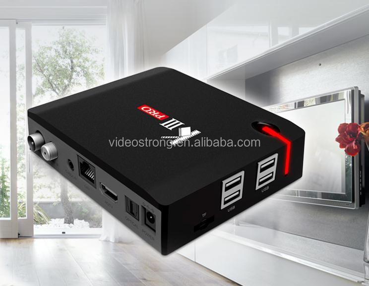 2017 New !!! Amlogic S912 3GB DDR K3 Pro Hybrid Combo <strong>TV</strong> box DVB S2 &T2 Android satellite receiver