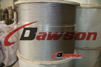 line contacted galvanized steel wire rope for sale 6*19S+FC