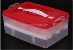 New Design and Low Price Handle Plastic Egg Box