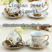 pearl pigment for ceramics and enamel manufacturering