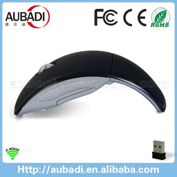 High-tech Wireless fold mouse arc touch folding mouse 2.4G foldable mouse