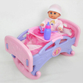 Baby Play set - Pretend Play Doll Rocking Bed and Feed chair plus accessories