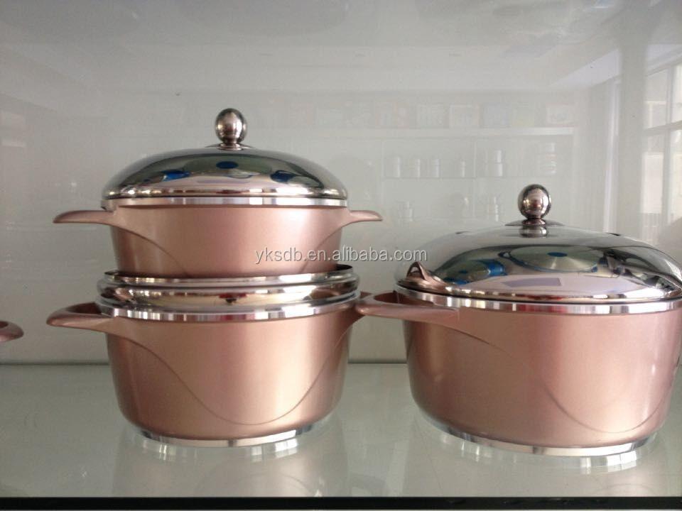 7pc cast aluminium cookware set buy cast aluminium cookware set dessini die cast pot die cast