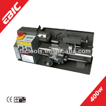 EBIC mini metal lathe machine China 400W semi automatic small used metal lathes for sale