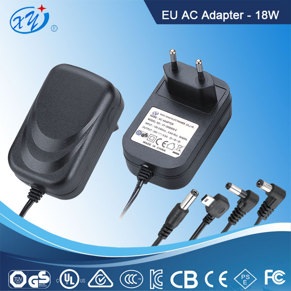 Factory low proce GS approved 18v 1a power supply adapter for CCTV camera