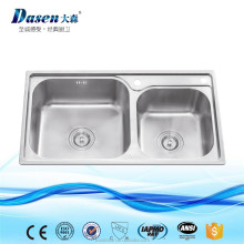 DS 5440 New Model cleaning resin sound deadening pads stainless 304 deep double kitchen sink