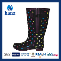beautiful girls sex wellington women rubber polka dot rain boots