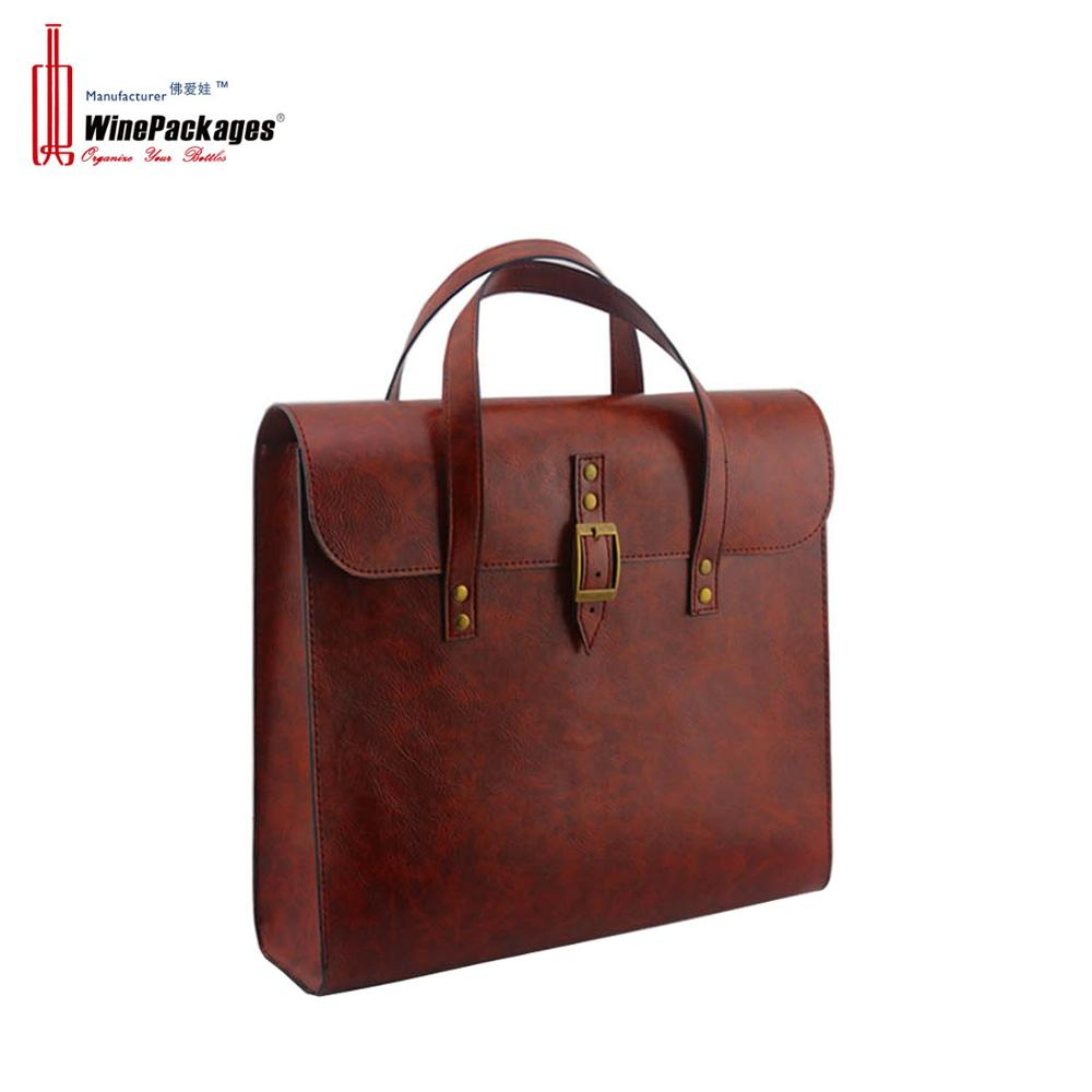 Good quality leather computer bag with handmade leather bag custom made multiple laptop computer bag