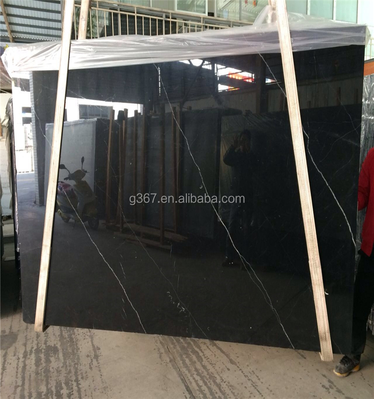 China hot sale cheap marble nero marquina honed grey marble
