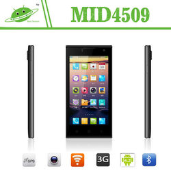New model 4.5 inch MTK6582M quad core Android 4.4 dual camera android 8mp camera phone
