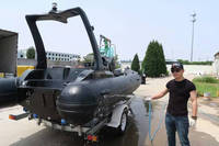Black fiberglass boats cover all accessories RIB-520 with all the equipments for sale!!!