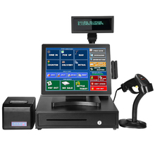 "15"" inch factory cheap electric cash register touch nfc pos terminal"