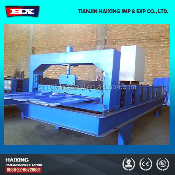 Hot sale 2015 15 KW hydraulic pressure station power 5.5KW roofing used gutter downpout pipe cold roll forming machines