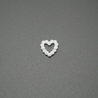 Durable Heart shaped plastic bra rings slides and low back bra strap clip