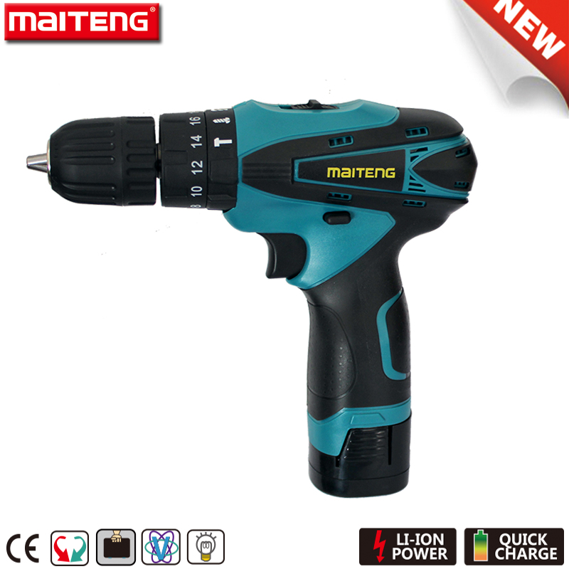16.8V Cordless Power Tools Impact Drill with Rechargeable Battery