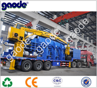 Price For CE Certified Mobile Scrap Car Compress Hydraulic Baler Machine