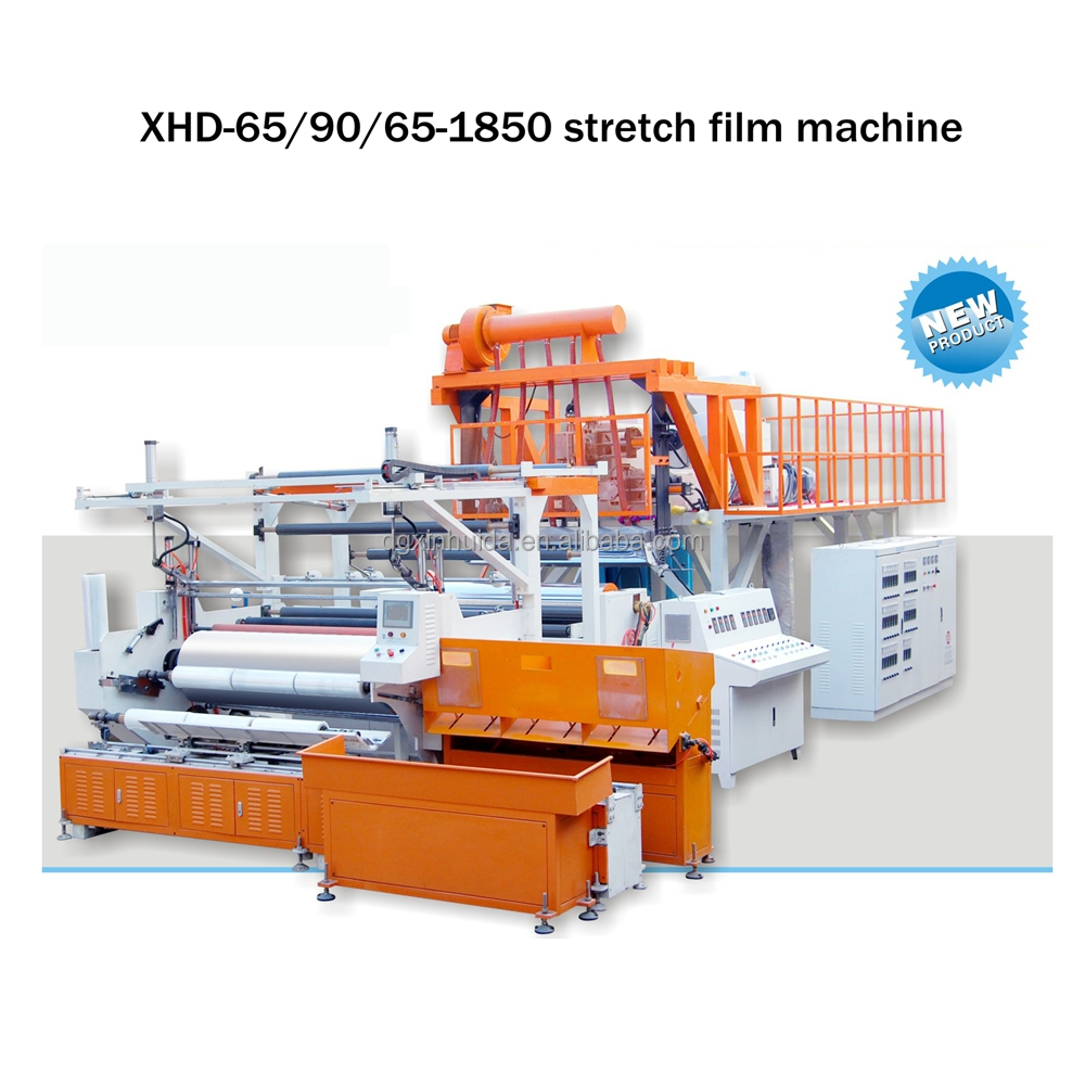 automatic three layer 1500 mm poly stretch film machinery